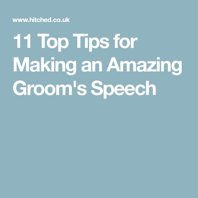 11 Top Tips for Making an Amazing Groom's Speech