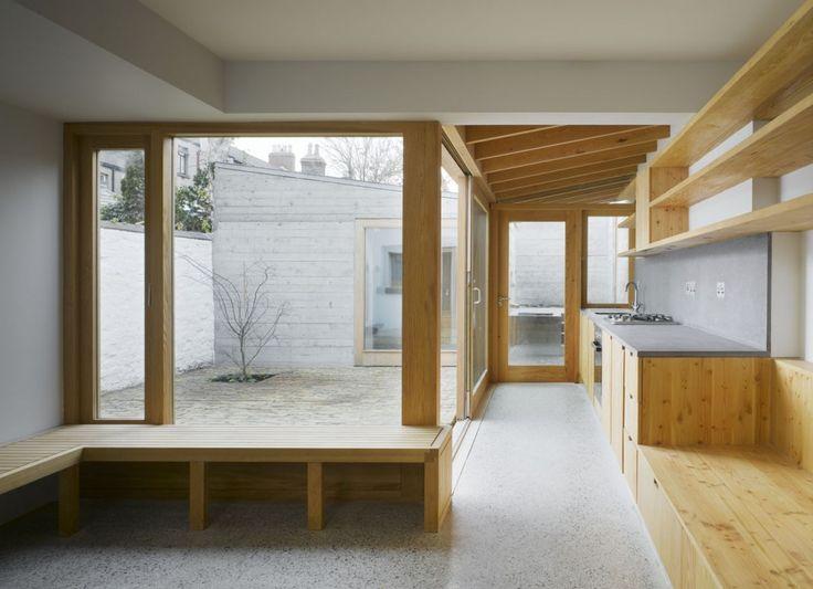Laneway Wall Garden House Extension in Portobello, Dublin, Ireland by Donaghy & Dimond Architects