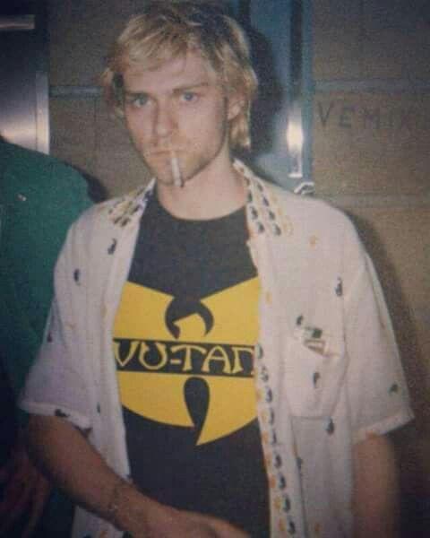ec7f0d65789aa Kurt sportin a Wutang Klan shirt!