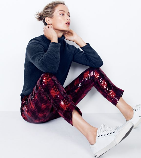 plaid and sequin pants! Yes, please.