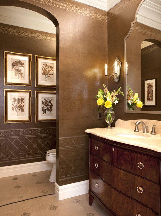 (wall Treatment For Dining) Traditional Bathroom By Sroka Design, Inc.