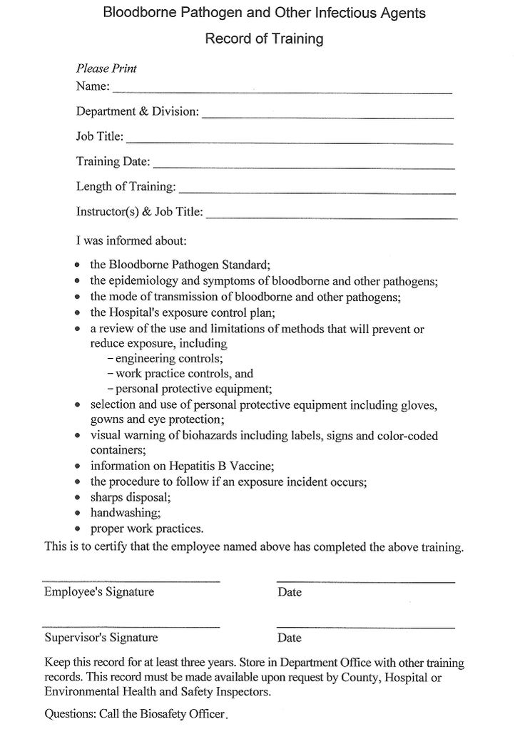 osha training worksheet - Google Search KD Kreations Pinterest - hipaa compliant release form