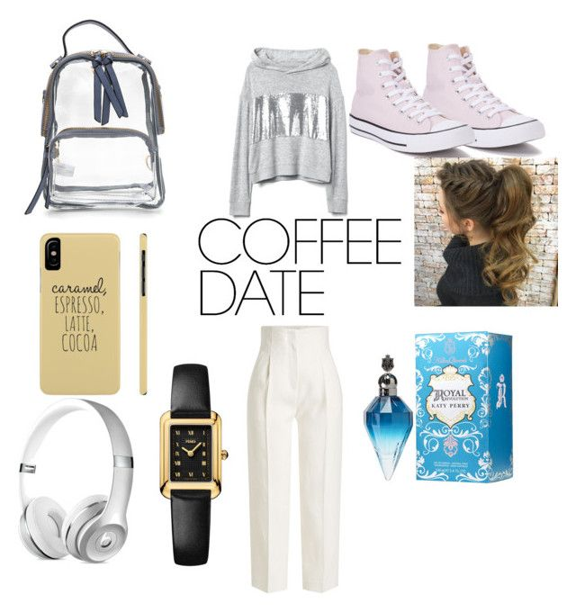 """""""coffe date"""" by angelmvai on Polyvore featuring Rosetta Getty, Converse and Fendi"""