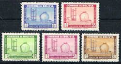 Bolivia 388 - 392 Stamps - Oil Refinery Stamps - SA BL 388 to 392-2 MNH
