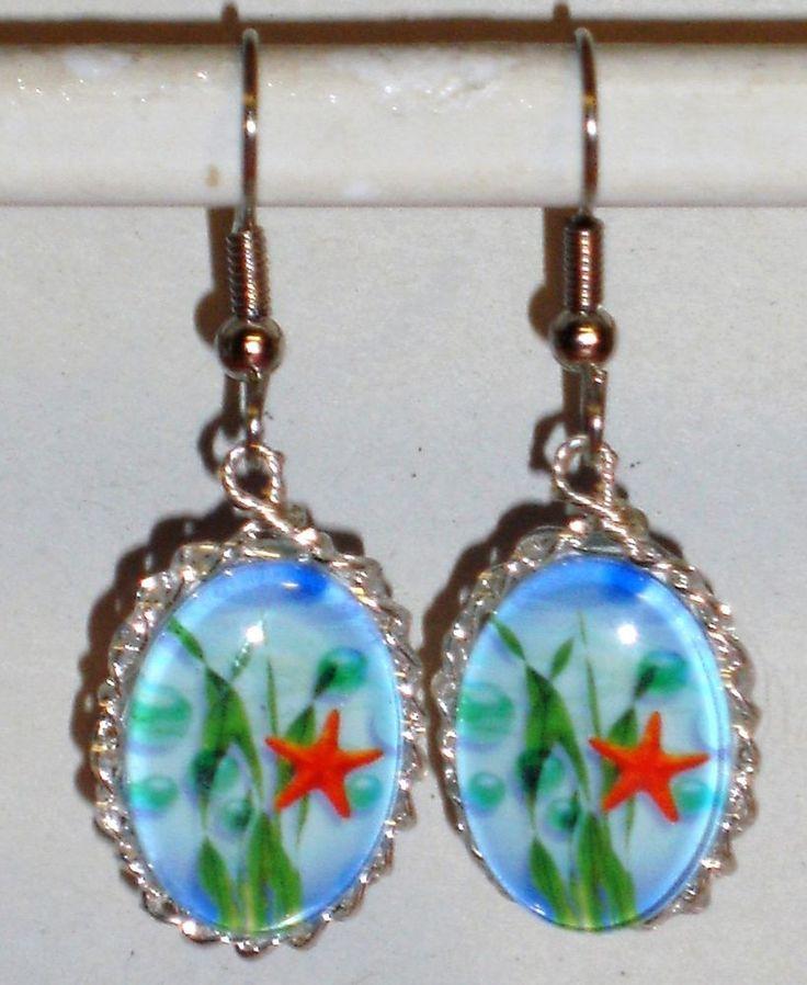 Ohrringe Seestern Damen Ohrschmuck Modeschmuck ohne Stein Metalllegierung Glas