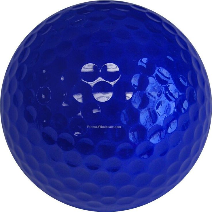 Golf Balls - Dark Blue - Custom Printed - 3 Color - Clear 3 Ball Sleeves