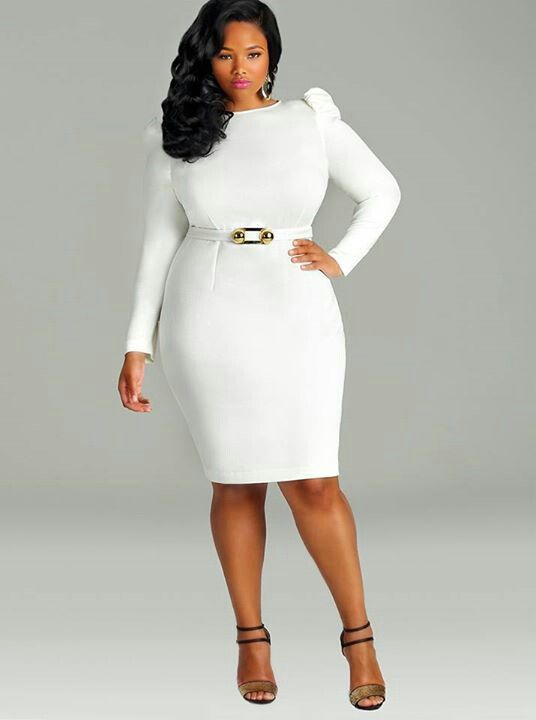 Image result for all white outfits plus size