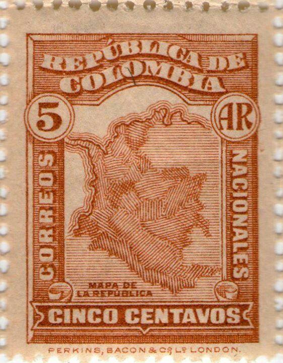 1917 MAPA COLOMBIA!!!
