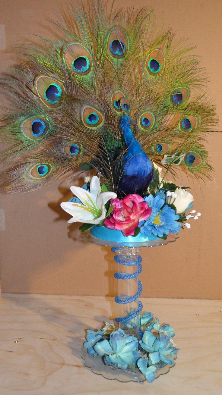 Pavo real peacock centro de mesa cm 070 69 95 www for Mesa centro