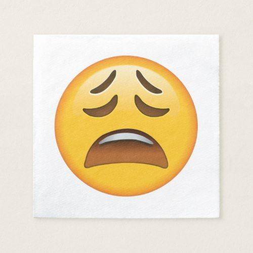 Tired Face - Emoji Paper Napkin | Zazzle com | Custom
