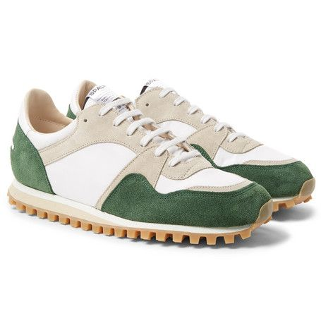 Spalwart's 'Marathon Trail' sneakers give whole new meaning to the term 'vintage charm' - they were actually made using shoe moulds and machinery from the '50s. Expertly finished by hand, they have breathable mesh and suede uppers and are set on thick, treaded rubber soles for a steady grip on any terrain.