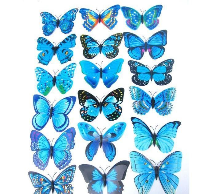 12x 3D Butterfly Wall Sticker Fridge Magnet Room Decor Home Decal Applique