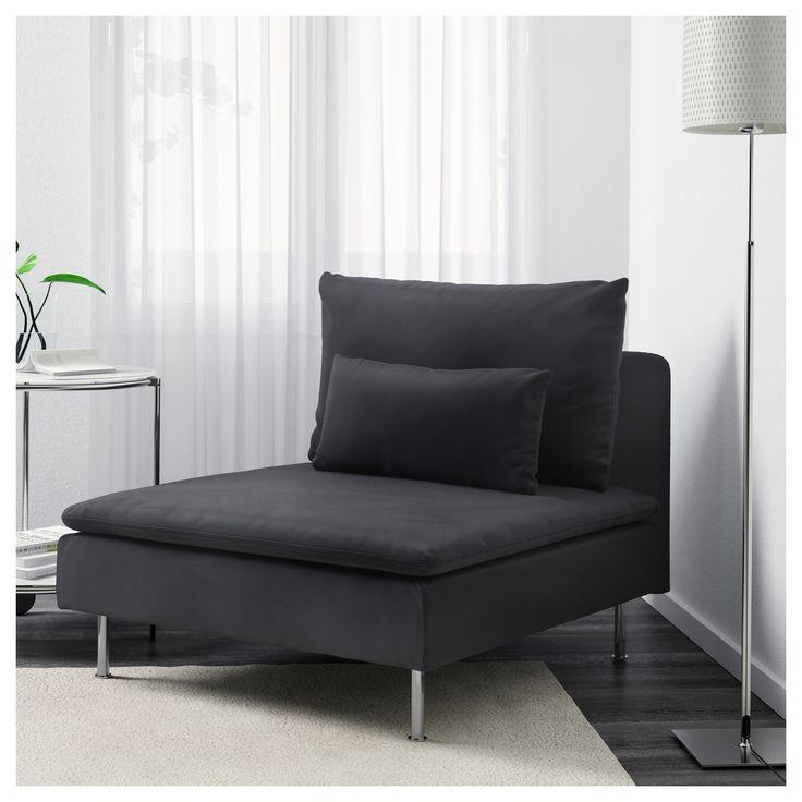 IKEA - SÖDERHAMN One-seat section Samsta dark gray