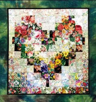 Heart in Bloom Watercolor Quilt Kit  Whims Watercolor Quilt Kits