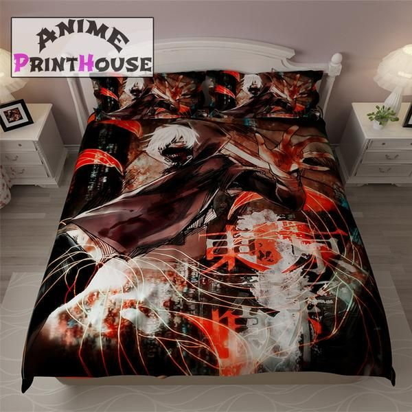 Tokyo Ghoul Blanket, Bedding Set & Covers | Kaneki Ken  #tokyo #ghoul #blanket #bedding #bed #set #bedroom #ideas #home #decor #duvet #cover #sheets #pillows   https://www.animeprinthouse.com/collections/tokyo-ghoul-merchandise-online-store/products/tokyo-ghoul-blanket-bedding-set-covers-kaneki-ken?variant=2933005058077