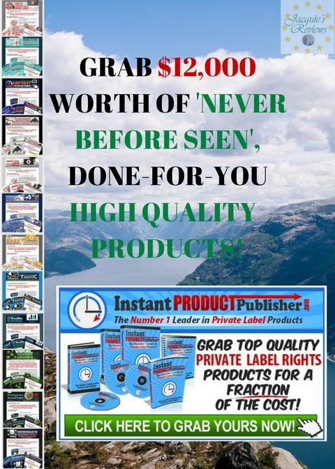 Grab $12000 Worth of Never Before Seen, Done For You, High Quality PLR Products.  Includes 12 COMPLETE Niche websites, that you can Resell as your Own, for 1 CRAZY Low Price.     #PLRProducts #HowToMakeMoneyFromHome #ReadyMadeNicheWebsites
