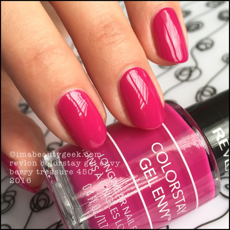 Revlon Gel Envy Berry Treasure 450, Revlon Colorstay GelEnvy 2016