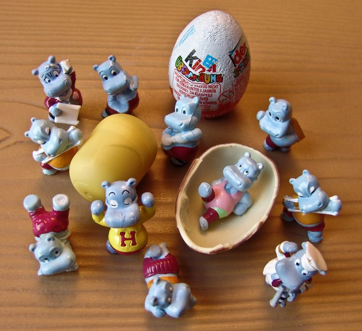 kinder surprise happy hippo's! These were so great. Unfortunately my kids are not able to enjoy them here in the US :(