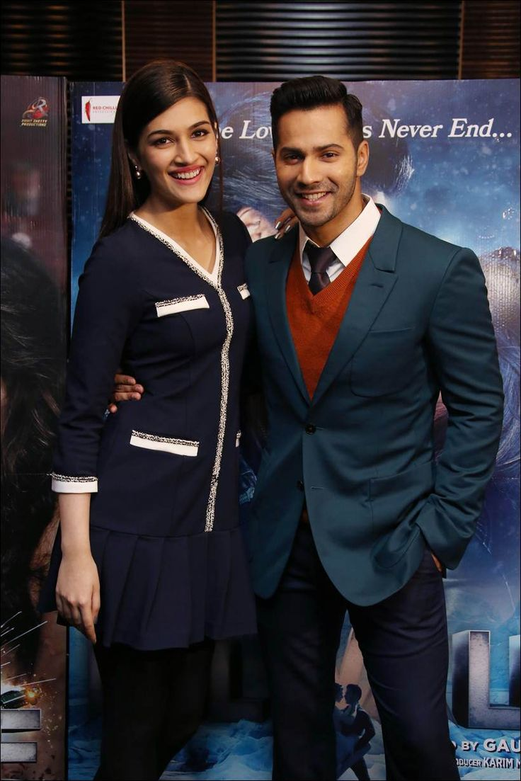 Varun Dhawan and Kriti Sanon promoting #Dilwale in London. #Bollywood #Fashion #Style #Beauty #Handsome