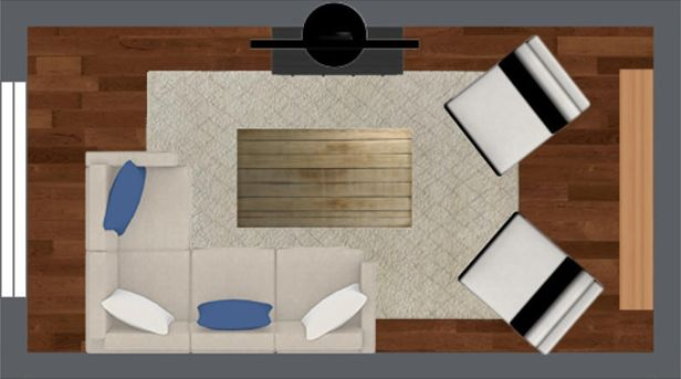 Four Furniture Layout Floor Plans for Your Small Apartment Living Room : Apartment Living