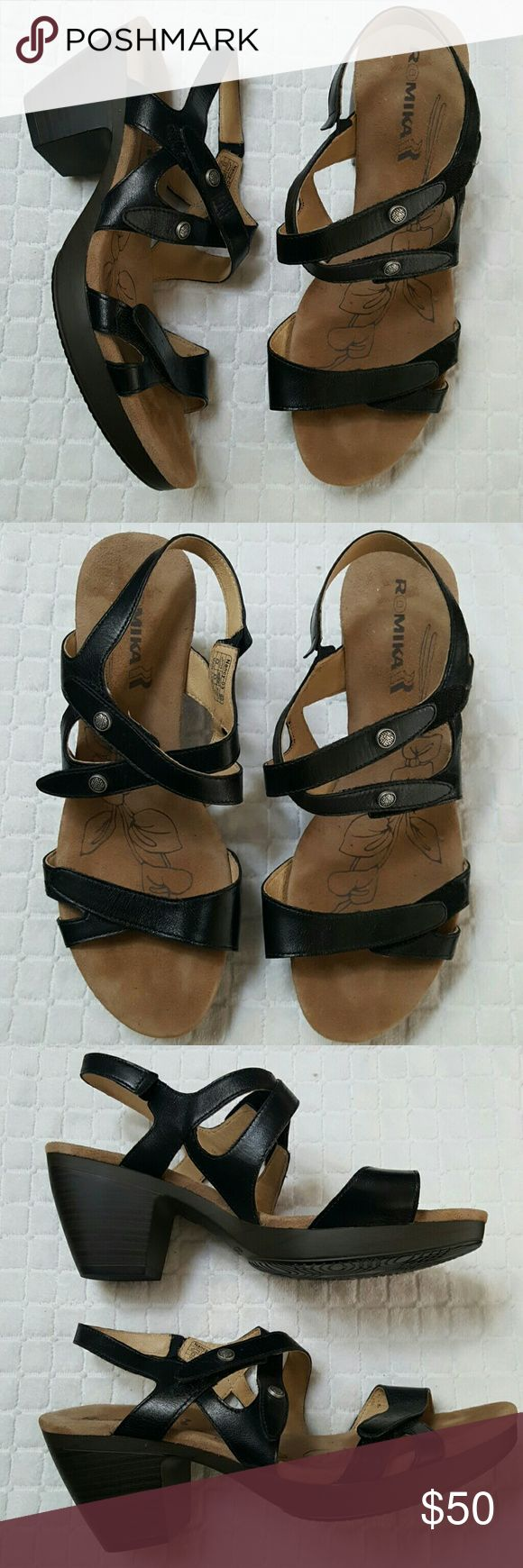 🆕Romika Comfortable Sandals sz 11 Brand new, never worn,  NWOT,  stylish and beyond comfy dress sandle. Can be worn worth casual attire or dress it up,  either way will look and feel Faboulous for all day wear & comfort. Easy on and off  velcro strap closures both on top and on bottom to adjust to your liking. Leather upper, lightly padded footbed. Sz 41  ( us 11 ) Romika  Shoes Sandals