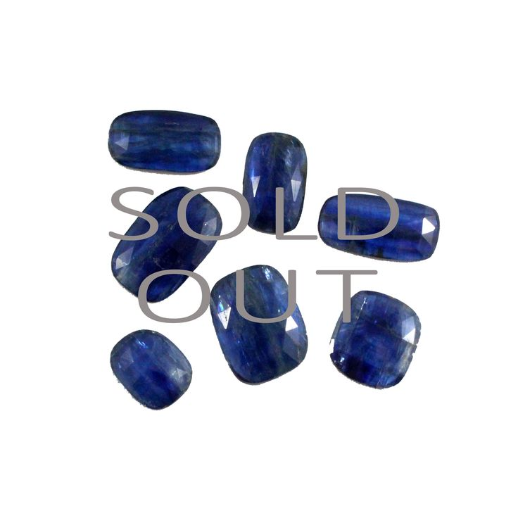 CUSTOM GEMSTONE SOURCING for Nicole Bertram - Final payment for 7 x Fancy rose cut Kyanite gemstone