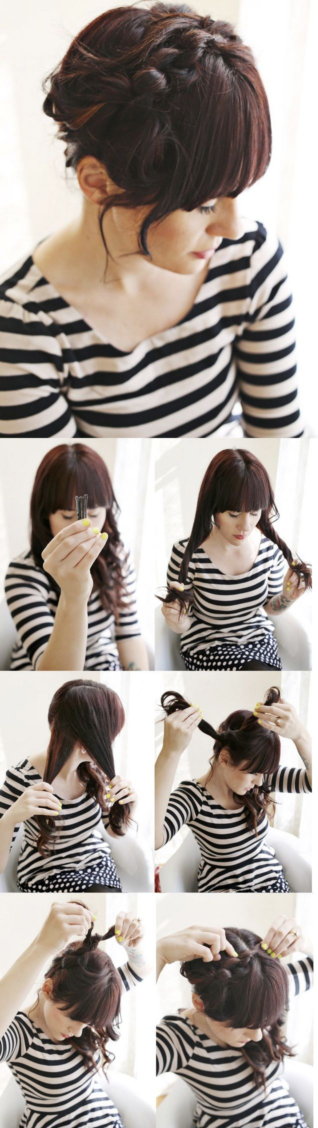1000 Ideas About 5 Minute Hairstyles On Pinterest