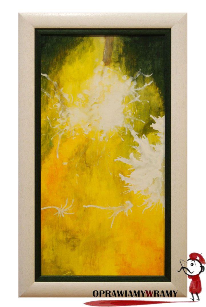 Abstrakcja w żółtych kolorach. Oprawa wykonana w pracowni oprawiamy w ramy #oprawiamywramy #obraz #abstrakcja