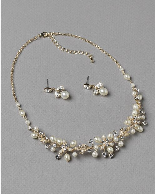 Affordable Elegance Bridal - Delicate Gold Plated  Wedding Jewelry Set with Light Ivory Pearls, $68.98 (http://www.affordableelegancebridal.com/delicate-gold-plated-wedding-jewelry-set-with-light-ivory-pearls/)