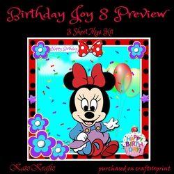 Birthday Joy 8 Mini Kit on Craftsuprint - View Now!