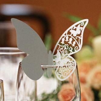 segnaposto farfalla #butterfly #silver #glitter #argento #natale #capodanno