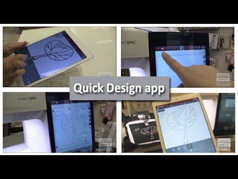 Sjov og spændende app til design og trådløs WiFi overførsel af broderi til Husqvarna Designer Epic