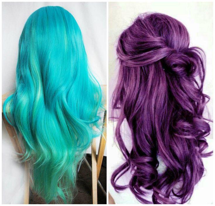capelli colori stile punk verde e viola