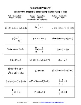 identify the properties of mathematics worksheet answers properties of addition worksheets and. Black Bedroom Furniture Sets. Home Design Ideas