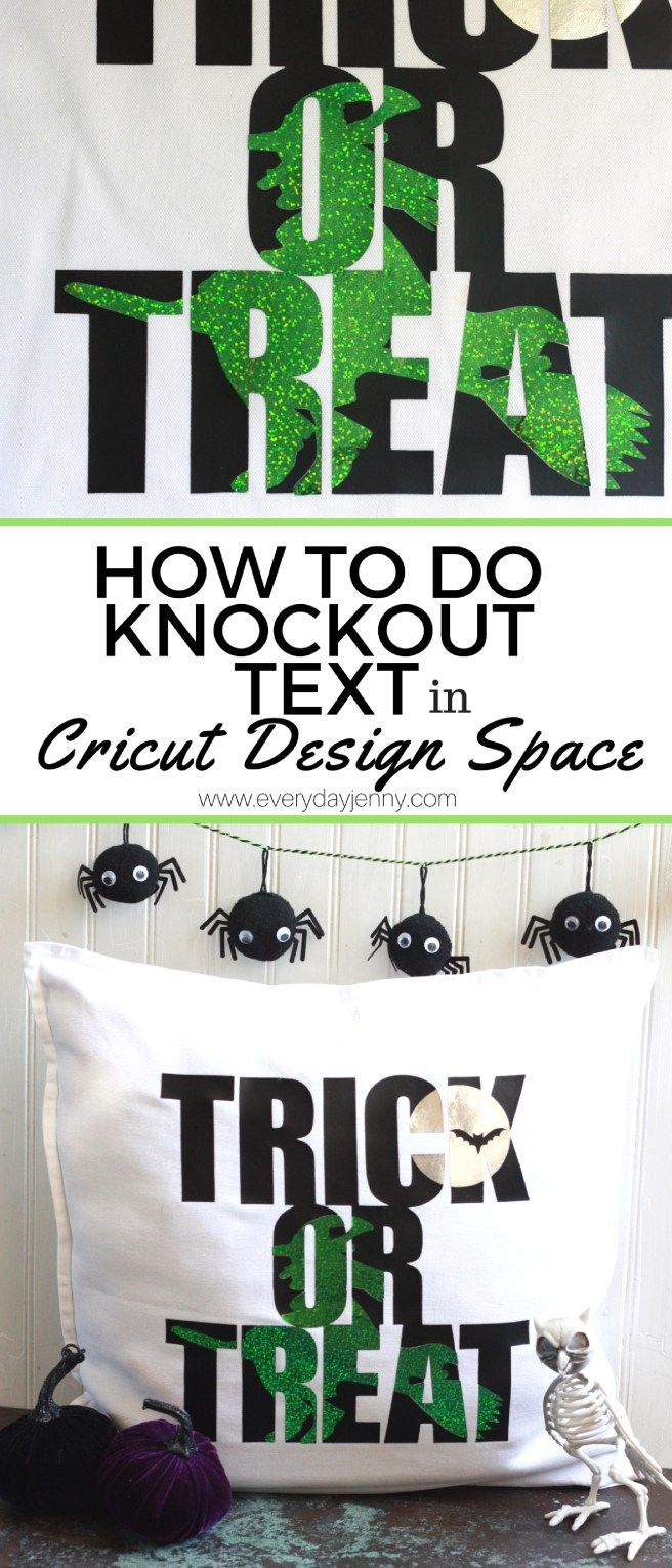 Tutorial to learn how to do knockout text in Cricut Design Space to create fun designs! #Cricut