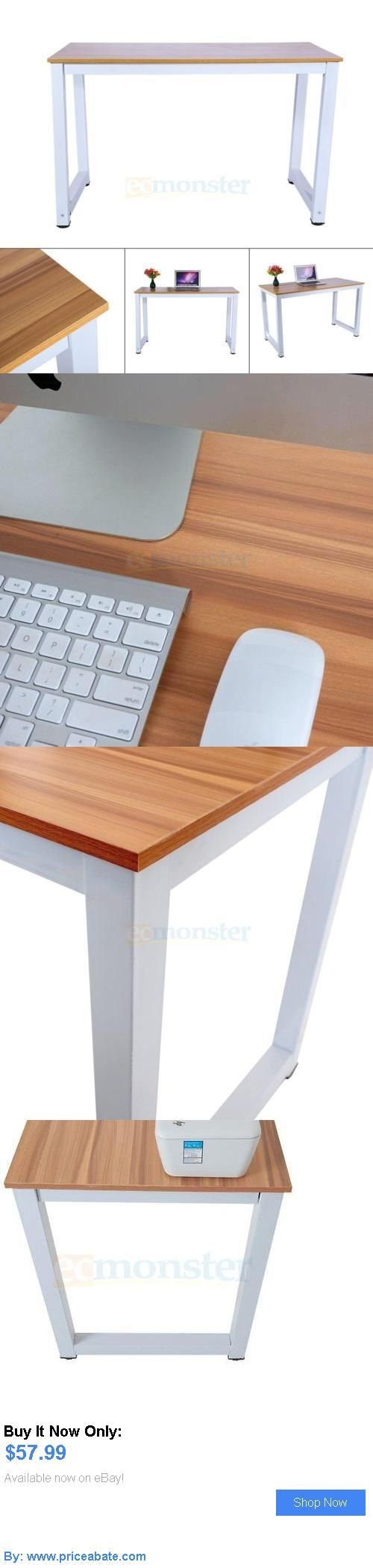 Office Furniture: Computer Desk Brown Wood Pc Laptop Table Workstation Study Home Office Furniture BUY IT NOW ONLY: $57.99 #priceabateOfficeFurniture OR #priceabate