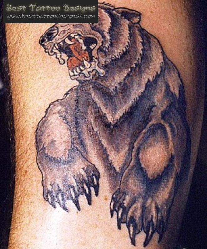 roar grizzly bear tattoo best tattoo designs pictures