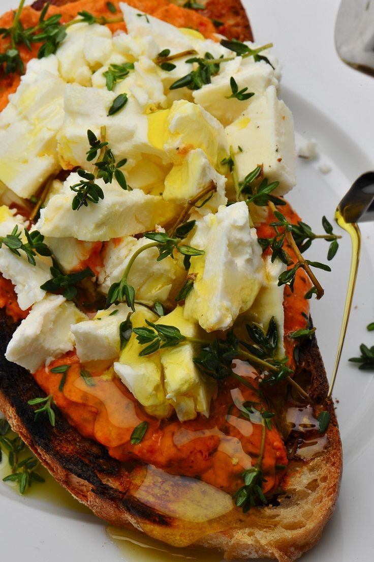 Bruschetta with Goats Cheese Oil Garlic Red Pepper Pesto - http://www.bubblews.com/news/1066464-bruschetta-with-goats-cheese-oil-garlic-amp-red-pepper-pesto