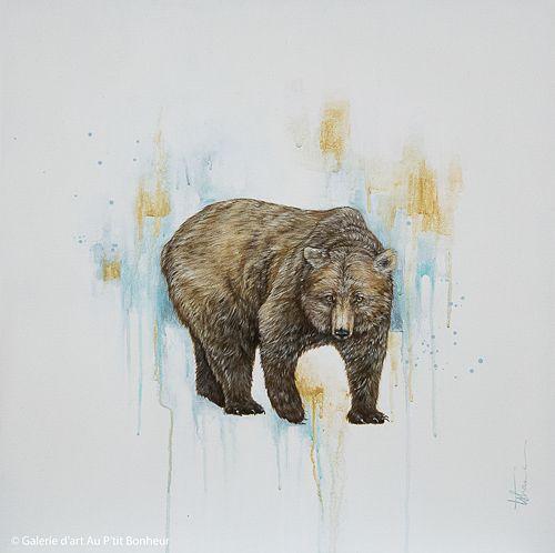 Tammy Shane, 'Walter', 25'' x 25'' | Galerie d'art - Au P'tit Bonheur - Art Gallery