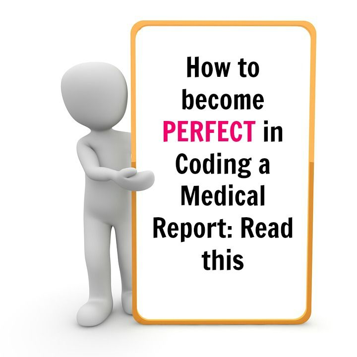 checkout how to code a sample report and become perfect in coding a medical report without any training and coding certification.
