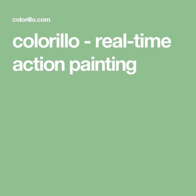 colorillo - real-time action painting