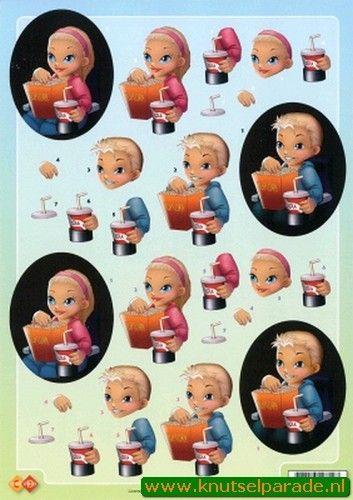 Nieuw bij Knutselparade: 0421 Card Deco knipvel jongen/ meisje CD 10060 https://knutselparade.nl/nl/kinderen/5595-0421-card-deco-knipvel-jongen-meisje-cd-10060.html   Knipvellen, Kinderen -  Card Deco