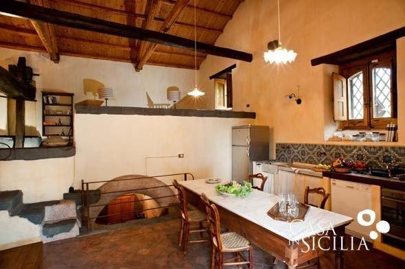 Kitchen in Palmento Monterosso in Trecastagni near Catania, Sicily | Di Casa In Sicilia Houses for Rent