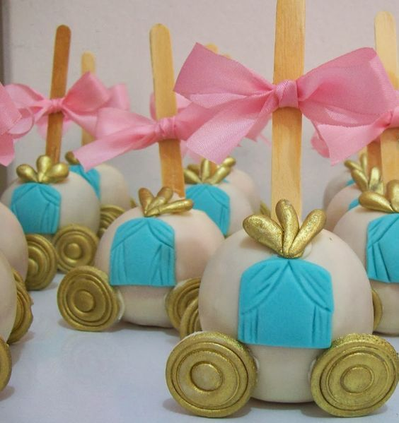 Cinderella's Carriage Cake Pops