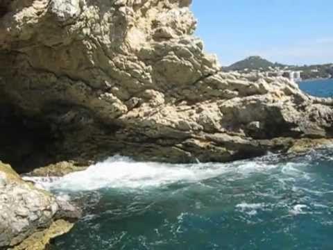 santa ponsa majorca sea cave and weird rock formations
