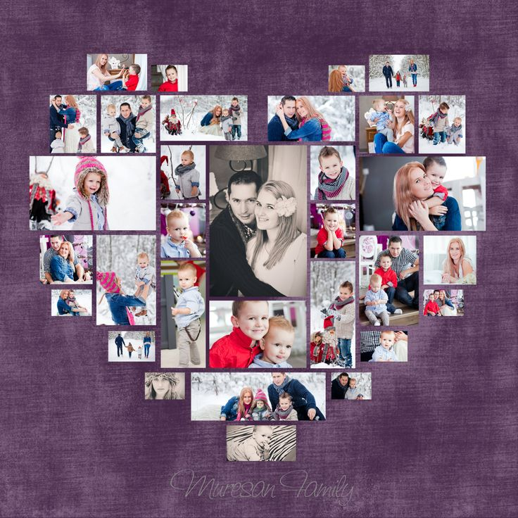 Custom Options: *Custom heart shape with your own photos *This can be customized in any way you would like. Background color can be change any color. This digital product contains 4 Photoshop collage templates. Great for putting together a cute collage for a client, yourself, or even sizing it down to use for a blog or scrapbook! *Please make sure you have a basic knowledge of layers and clipping masks Details: - Layered Files, 300 DPI - Compatible with Photoshop Elements 6+ and Photoshop…