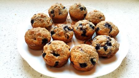 Very Simple Blueberry Muffins