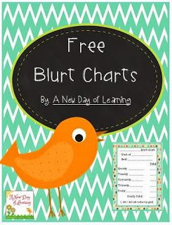 Come get your FREE Blurt Chart and check out my brand new blog!
