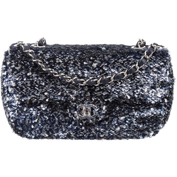 922f2212f3ec Pre-owned Chanel Sequin Classic Medium Single Flap Bag ($2,800) ❤ liked on