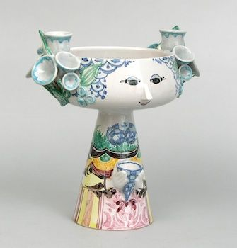 """Bjorn Wiinblad Face Vase (Denmark, 20th C) 